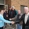 Taylor Peck, Patrick Sexton, Amber Fetter, Bethany Rutger welcoming Veterans.<br /> <br /> Ron Fraley with Indans cap, Ozie Adkins, C.W. Finley and Dean Walker in black leather coat.