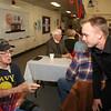 Ben Harrison talking to Veteran George Trembach, WW II veteran.