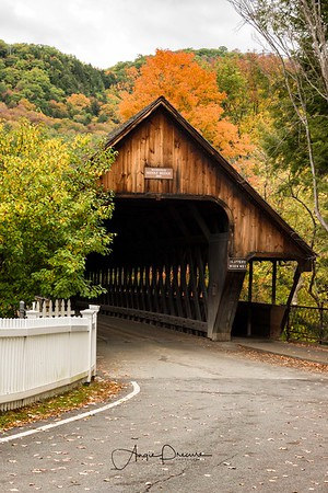 Middle Bridge in the middle of Woodstock, Vermont