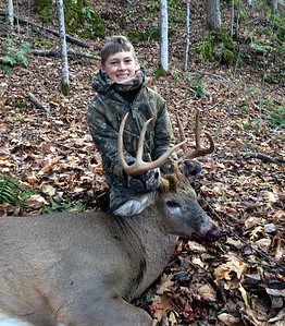 Lane Eddy, Rutland Co., 2014 Youth weekend. 201 lbs.