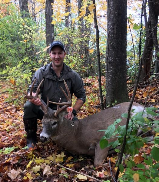 Dana Joyal, Chittenden Co., 192 lbs., 2018 Archery.  Scored 132 2/8.