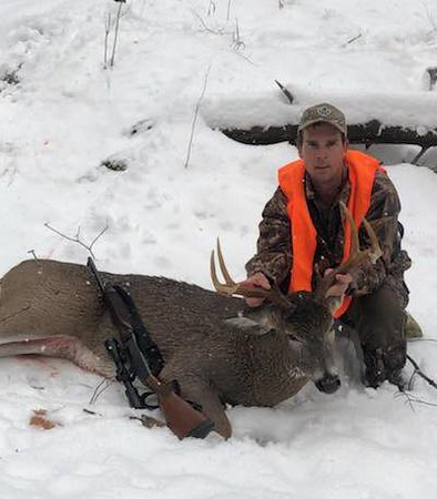 Kevin Barker, Addison Co., 205 lbs., 2018 rifle. Scored 113 1/8.
