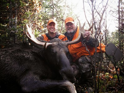 "2013 - Jeff & Eric Bushey, Essex Co., 587 lbs., 36"" spread."
