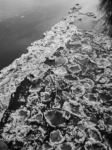 Ice on River / White River Jct., Vermont