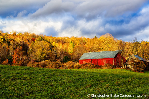 Red Barn and Evening Light