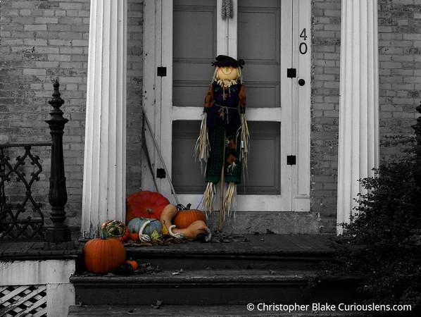 Halloween Door - Vermont