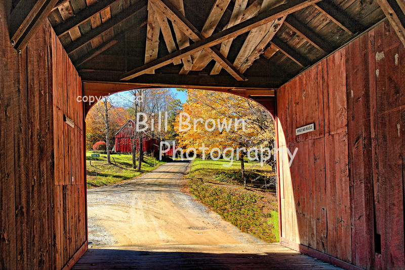 Looking Through the Green River Covered Bridge