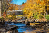 Green River Covered Bridge and Crib Dam in Fall