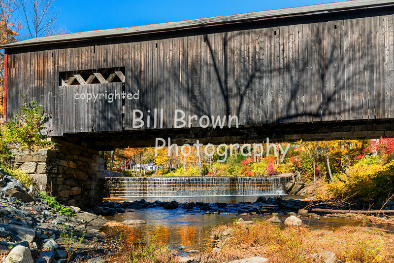 Covered Bridge and Crib Dam on the Green River