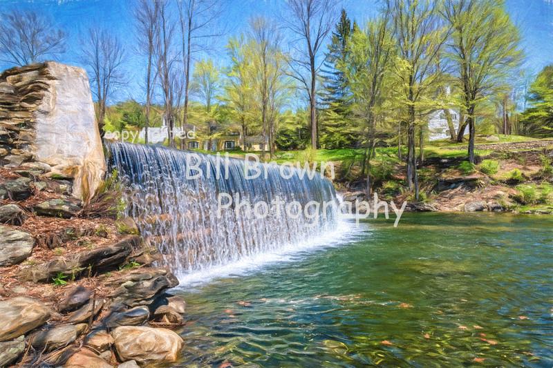 Green River Crib Dam in Spring