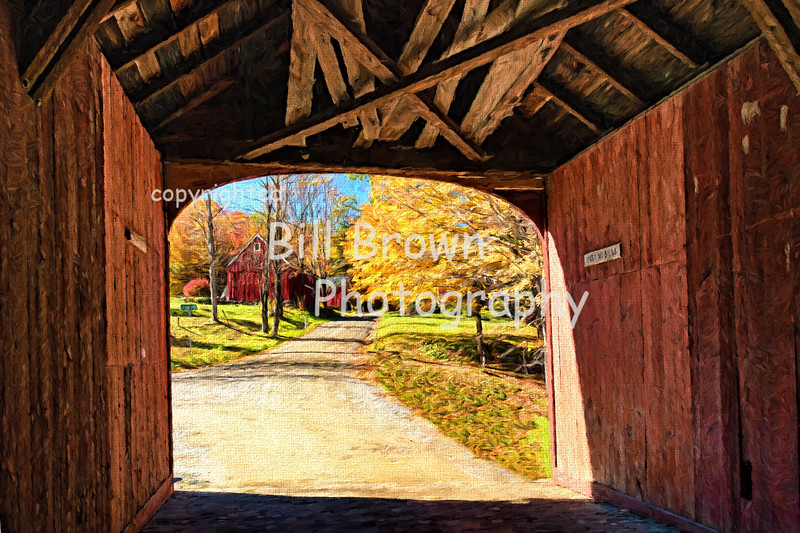 Green River Covered Bridge-Artistic