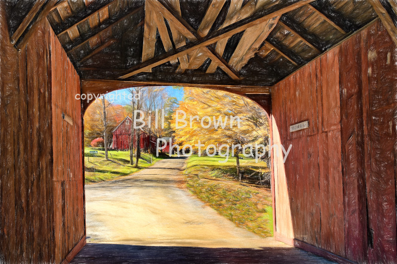 View from Inside the Green River Covered Bridge