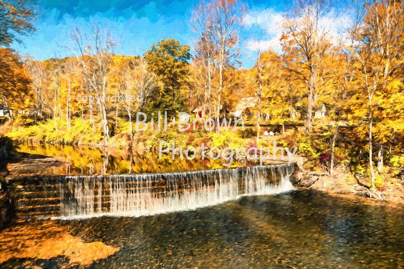 Fall at Green River Crib Dam-Artistic