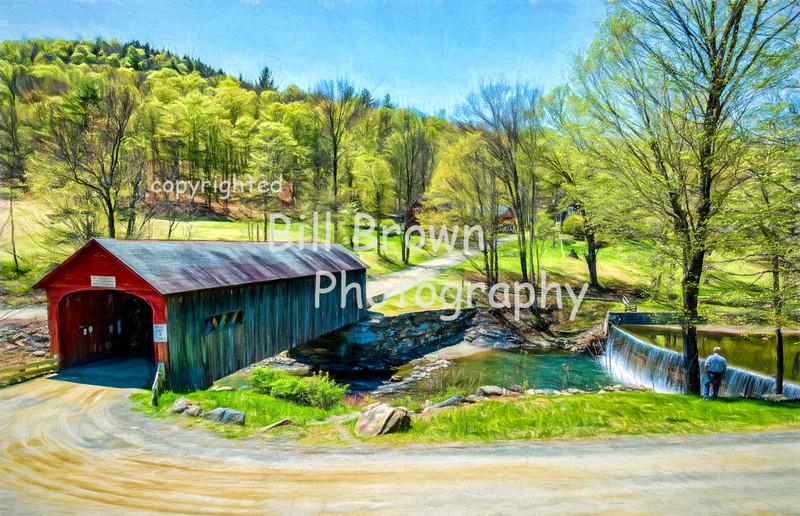 Green River Covered Bridge in Spring