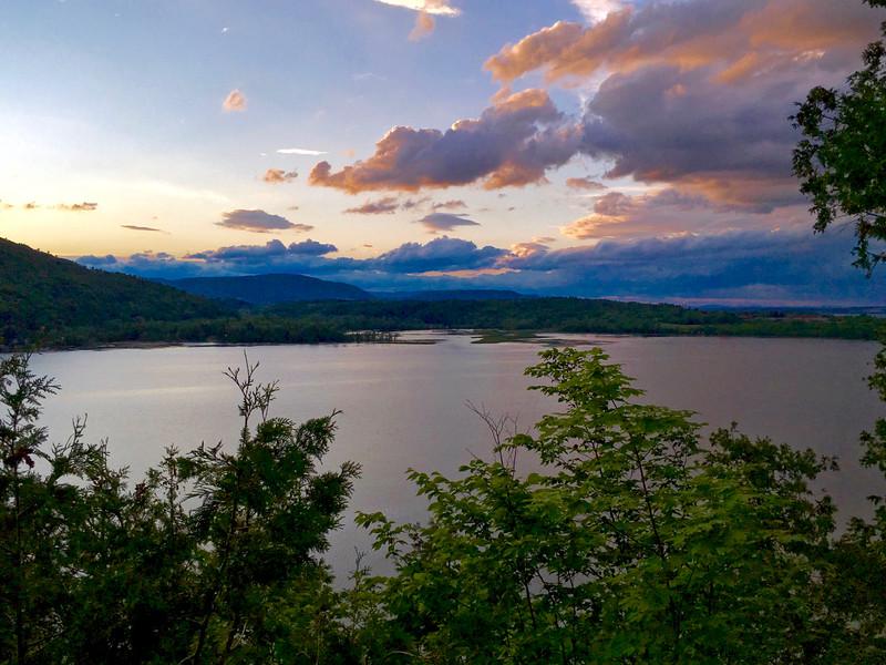 Sunset over Lake Champlain