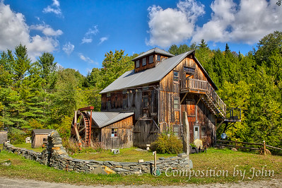 Grist Mill near South Cambridge VT, now a home.