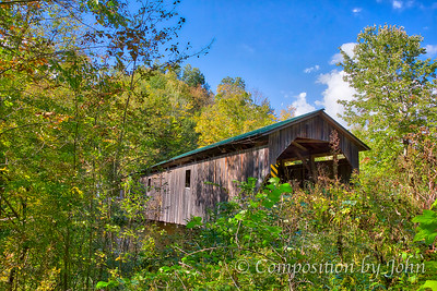 1872 Covered Bridge Near South Cambridge VT