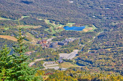 View from Stowe Mountain Resort after riding gondola to top