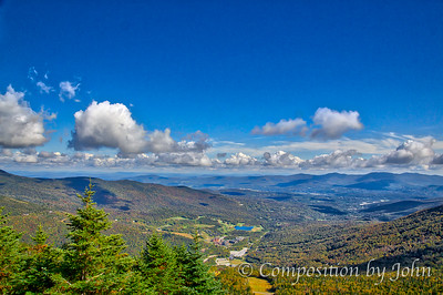 View from top after riding Stowe Mountain Resort gondolas