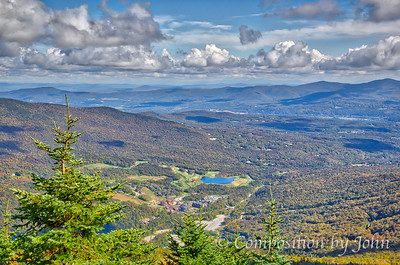 Stowe Mountain Resort view from just below the summit of Mount Mansfield