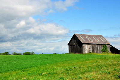 Historic barn from 18th century, Vermont.
