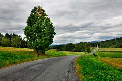 Rural road in Vermont.