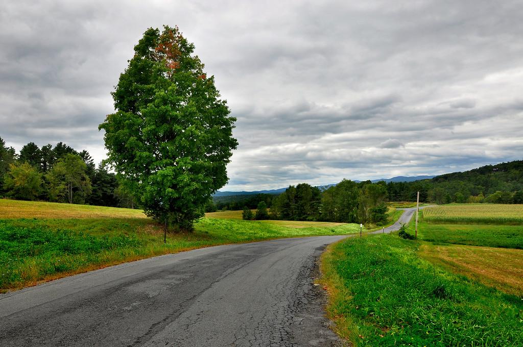 Rural road in Vermont.