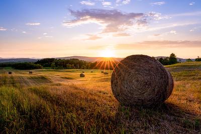 Hay Field Sunsret