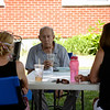 David LaChance — Bennington Banner<br /> Sisters Bonnie Cunningham, left, and Linda Grande visit with their father, Tom Bullett, at the Vermont Veterans' Home in Bennington on Sunday.