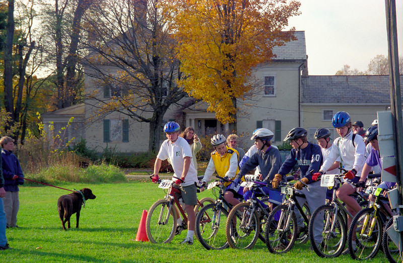 Before the start of the mountain bike race