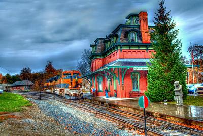 Rainy Day: N. Bennington Train Station  #803