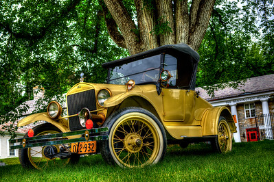 Model T Ford under an American Elm Tree, Bennington Museum #883