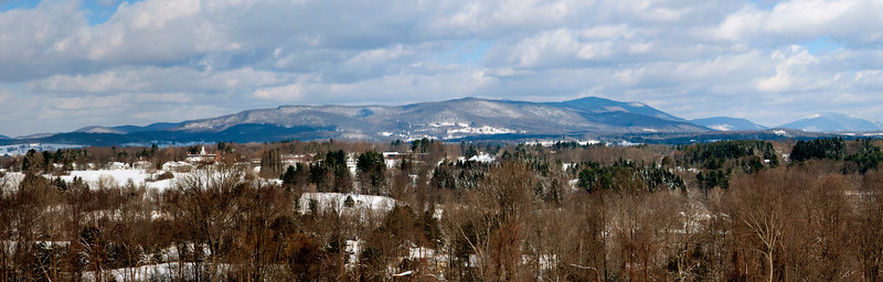 Bennington College , Taconic Mountains in winter  #896