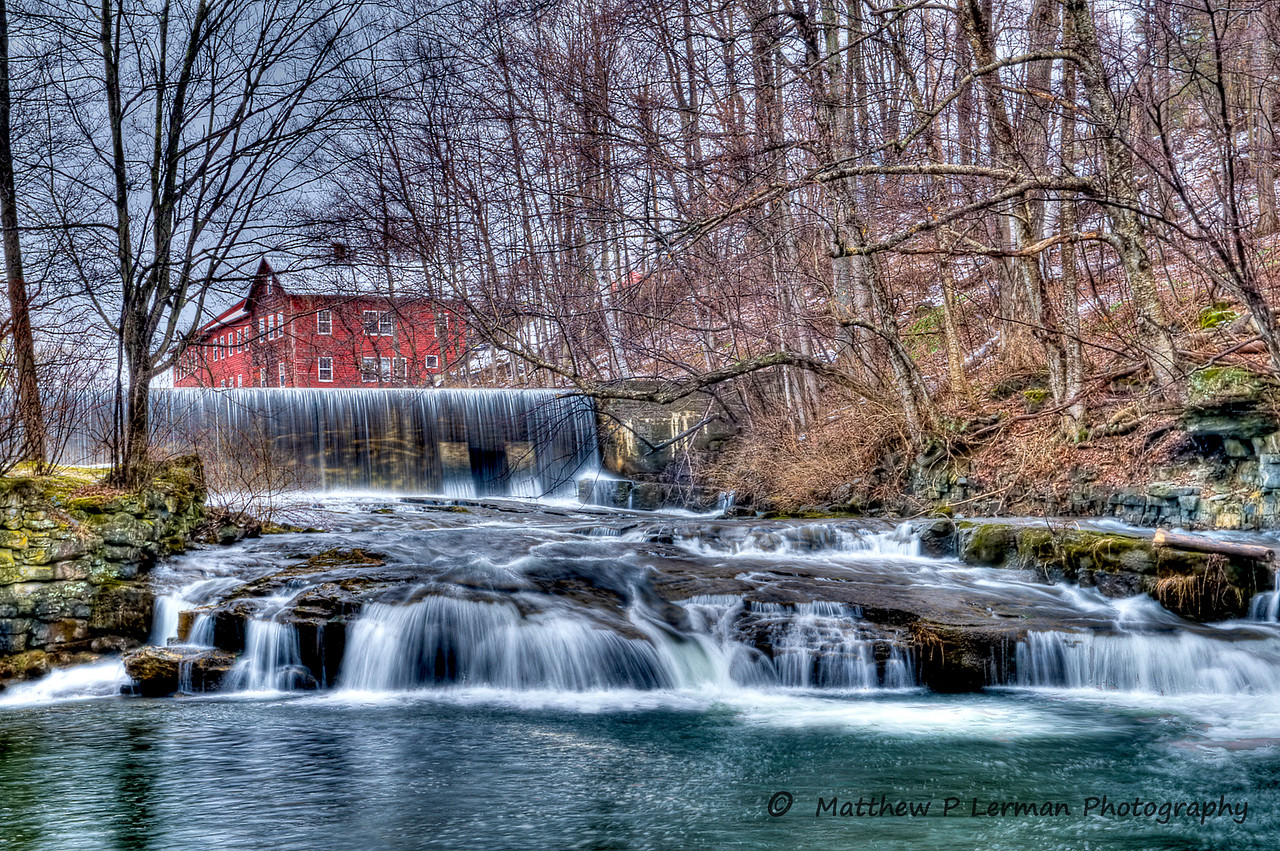 Papermill Waterfall on Paran Creek in scenic North Bennington, VT
