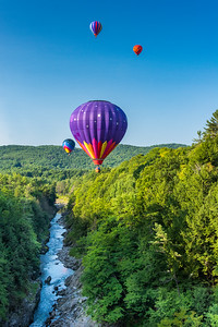 Balloons in Quechee Gorge