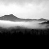 Camel's Hump in Fog #1 BW