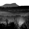 Camel's Hump in Fog #3 BW