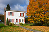 Fall foliage in rural Vermont, USA,