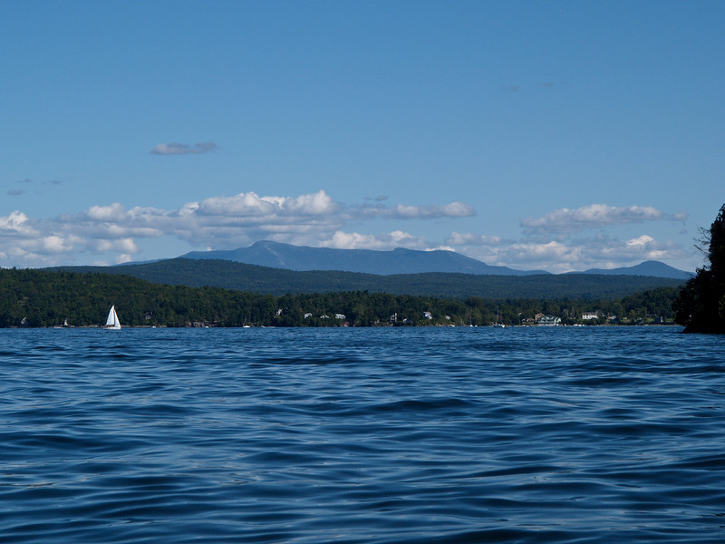 Mount Mansfield from Malletts Bay. Lake Champlain, Vermont.