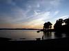 Dusk at the shore, Lake Champlain