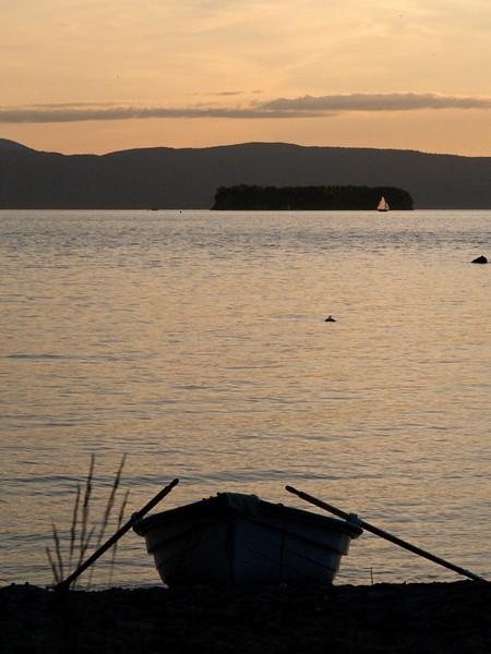 After sunset, Lake Champlain