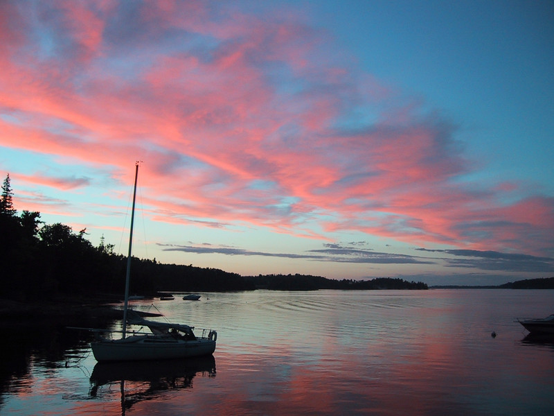 Sunset over Malletts Bay, Lake Champlain, Vermont