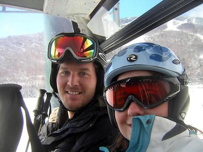 Geoff and Bree. Stowe gondola 4-02-2006