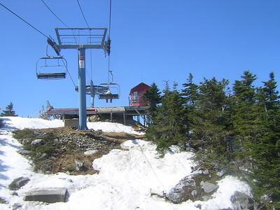 4-30. Almost at the top of Mt Ellen (aka Sugarbush North)