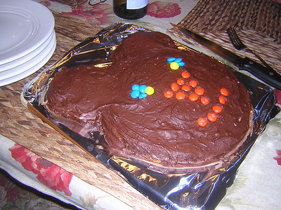 mmmmmm. Bear Cake! for Aleks' birthday, 33 on April 3. 4-1-2006