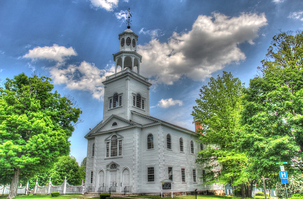 The Old First Church was gathered in 1762, the first Protestant church in Vermont. Much of the early history of Bennington and of Vermont took place in and around the original Meeting House, built in 1763, and the present church, built in 1805 and dedicated January 1, 1806.