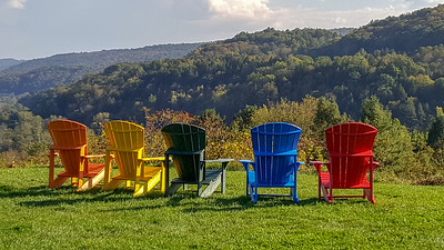 Adirondack Chairs with Vermont Landscape