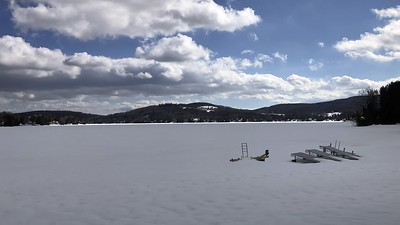 Cloud Shadows in Winter on Joe's Pond