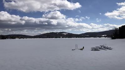 Cloud Shadows in Winter on Joe's Pond