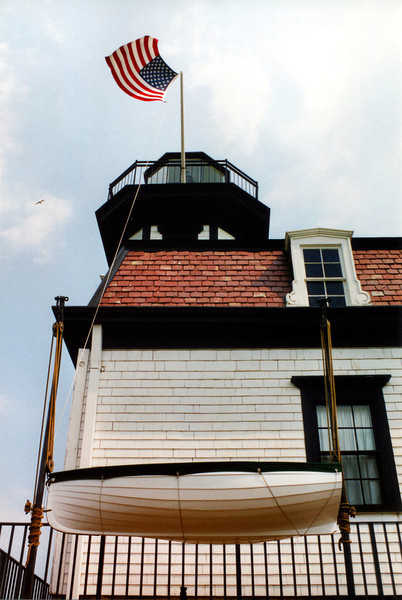 $20,000 was allocated for the construction of the light and it was completed in 1871. The plan was a wooden structure of Second Empire design with 4 bedrooms on the second floor and a kitchen, living room and oil room on the first floor. The design for this lighthouse was used in later years at lighthouses in Rhode Island's Naragansett Bay as well.
